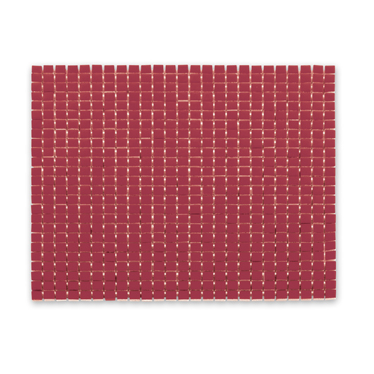 3/8 in. Square Porcelain Tile - Solid Red