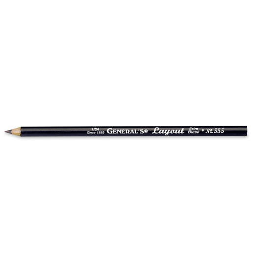 General's® Layout® Extra Black Sketch Pencil - 6B