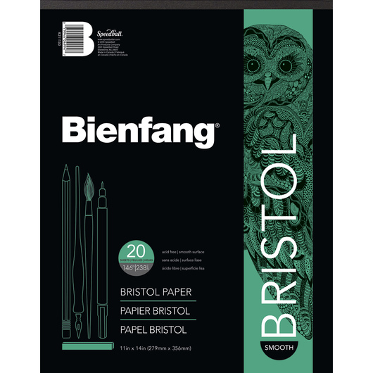 Bienfang® #528 Bristol Drawing Paper with Smooth Surface - 20, 11 in. x 14 in. Sheets