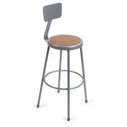 Steel Stationary Stool - Seat Height 30 in. with Back