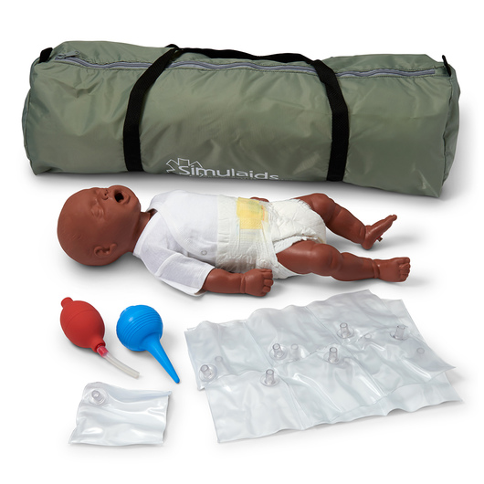<strong>Simulaids®</strong> CPR Bonnie Newborn Basic with Carry Bag - Dark