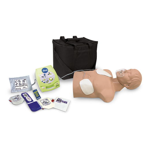 Zoll AED Trainer Package with <strong>Simulaids®</strong> Economy Adult Sani-Manikin and Carry Bag