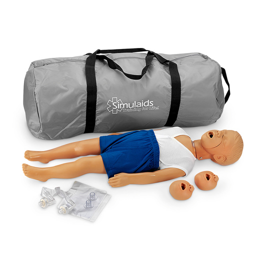 Simulaids® Kyle™ 3-Year-Old CPR Manikin with Carry Bag - Light