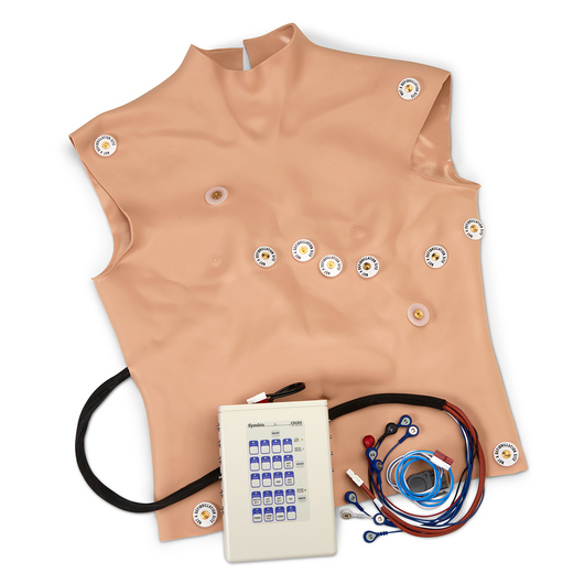 <strong>Simulaids®</strong> 12-Lead Arrhythmia Simulator with Manikin Overlay - Physio - Large