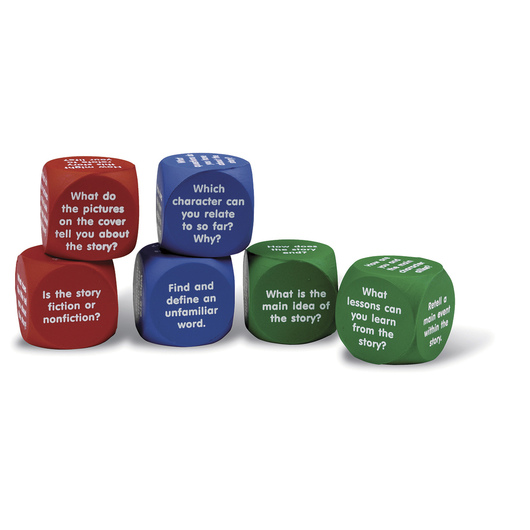 Learning Resources® Reading Comprehension Cubes - Set of 6