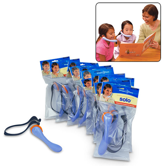 Classroom Pack of 12 WhisperPhone® Solos - Small (Gr. K-4)