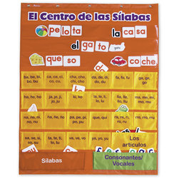 El Centro de las Silabas Spanish Syllables Pocket Chart