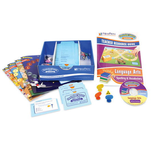 NewPath Learning® Language Arts Curriculum Mastery Games: Gr. 2-5 - Spelling & Vocabulary, Classroom-Pack Edition