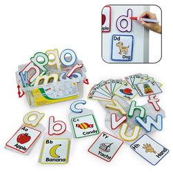 Write and Wipe Magnetic Lowercase Letters with Clear Removable Pouch