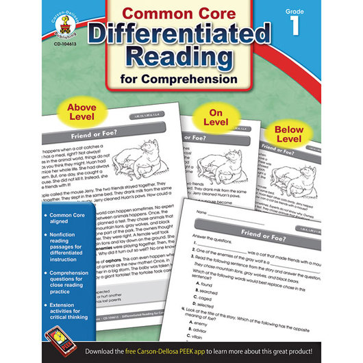 Common Core Differentiated Reading for Comprehension - Gr. 1