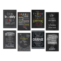 Inspire U Charts - 13-3/8 in. x 19 in. - Set of 8