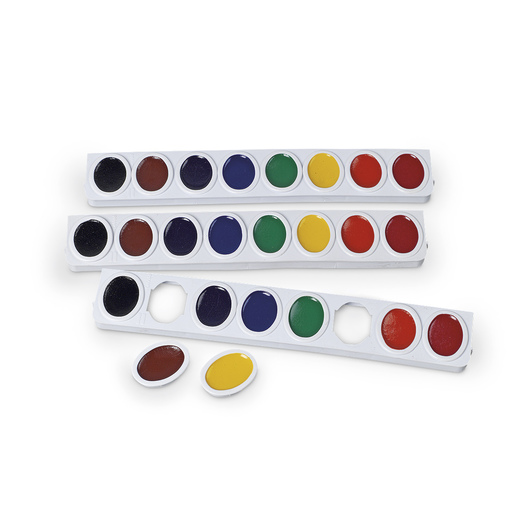 PRANG® Oval Watercolor Refill Trays - Set of 3