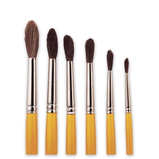"Nasco ""Pro-formance™"" Watercolor Brushes - Set of 6"