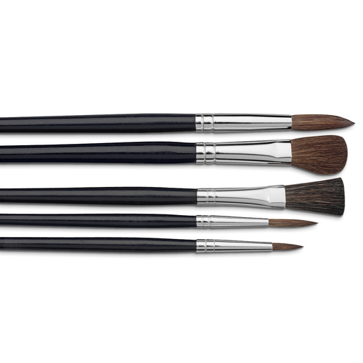 "Nasco ""Pro-formance™"" College Level Watercolor Brushes - Set of 5"