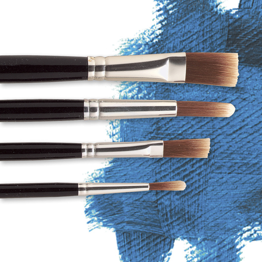 "Nasco ""Pro-formance™"" Assorted Acrylic Brushes - Set of 4"