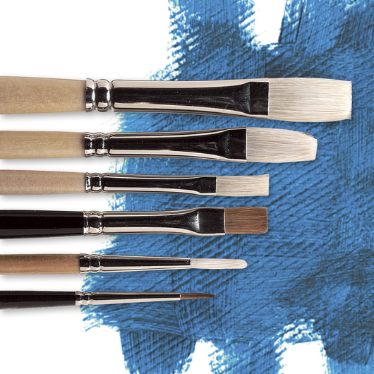 "Nasco ""Pro-formance™"" Oil Painting Brushes - High School Level - Set of 6"