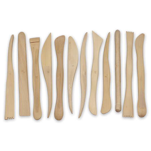 Nasco Boxwood Modeling Tools - Set of 12 - 6 in.