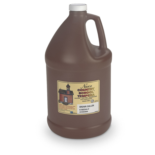 Nasco Country School™ Tempera Paint - Brown - Gallon