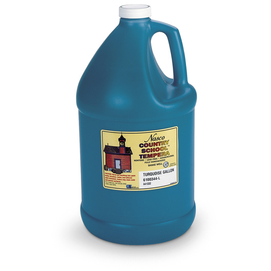 Nasco Country School™ Tempera Paint - Turquoise - Gallon
