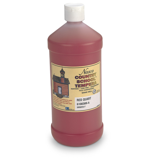Nasco Country School™ Tempera Paint - Red - Quart