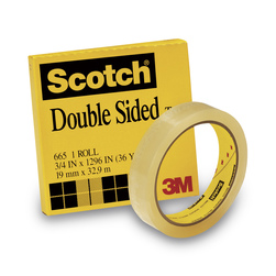 Scotch® Double-Coated Tape - 3/4 in. x 36-yd. Roll