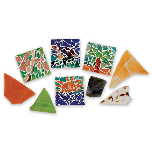 Nasco Scrap Stained Glass Assortment - 10 lbs.