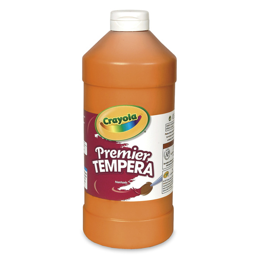 Crayola® Premier™ Tempera Paint - Orange - Quart