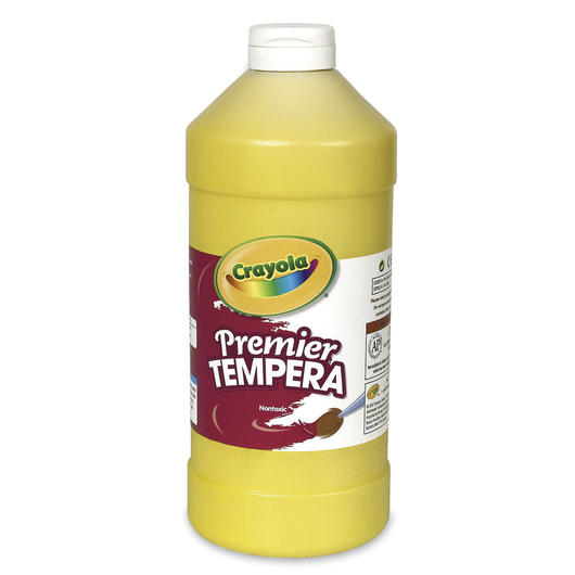 Crayola® Premier™ Tempera Paint - Yellow - Quart