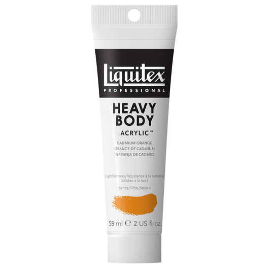 Liquitex® Heavy-Body Acrylic Paint - 2-oz. Tube - Cadmium Orange