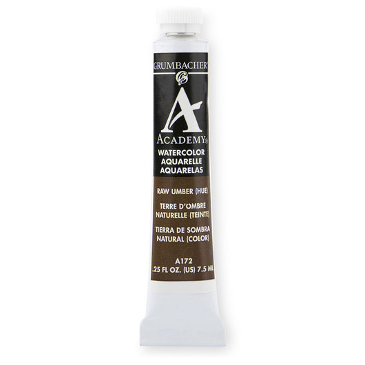 Grumbacher® Academy® Watercolor - 0.25 oz (7.5 ml) - Raw Umber Hue