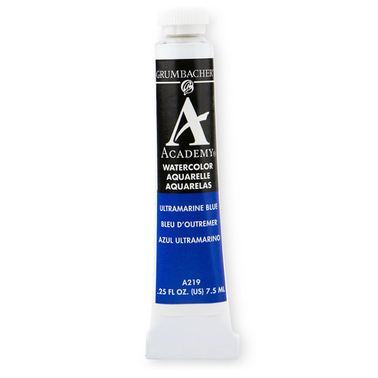 Grumbacher® Academy® Watercolor - 0.25 oz. (7.5 ml) - Ultramarine Blue