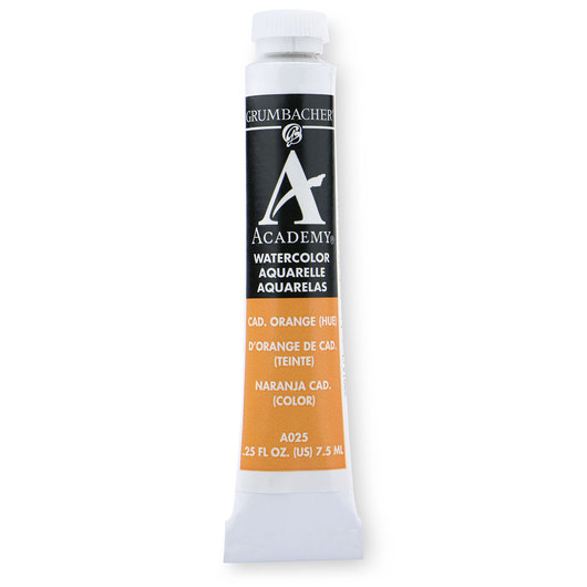 Grumbacher® Academy® Watercolor - 0.25 oz. (7.5 ml) - Cadmium Orange Hue