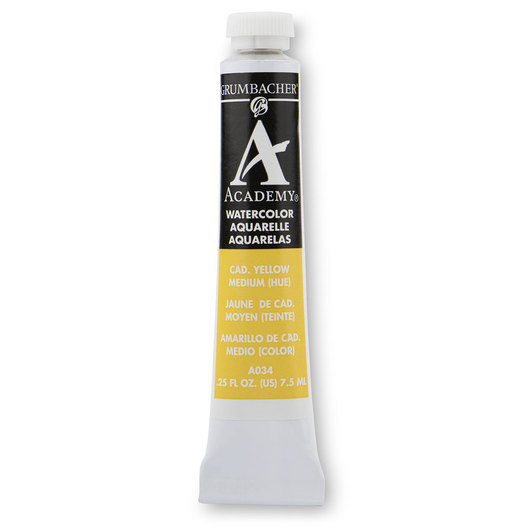 Grumbacher® Academy® Watercolor - 0.25 oz. (7.5 ml) - Cadmium Yellow Medium Hue