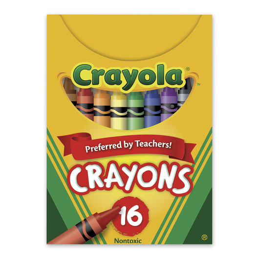 Crayola® Wax Crayons - Tuck Box of 16