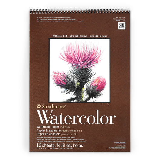 Strathmore® 400 Series Watercolor Pad - 11 in. x 15 in. - 12 Sheets - 140 lb.
