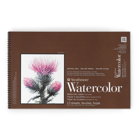 Strathmore® 400 Series Watercolor Pad - 12 in. x 18 in. - 12 Sheets - 140 lb.