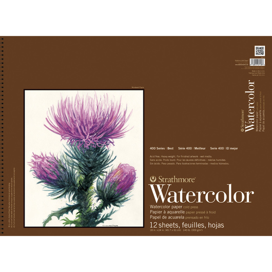 Strathmore® 400 Series Watercolor Pad - 18 in. x 24 in. - 12 Sheets - 140 lb.
