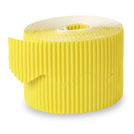 Pacon® Bordette® Roll - 2-1/4 in. x 50 ft. - Canary Yellow