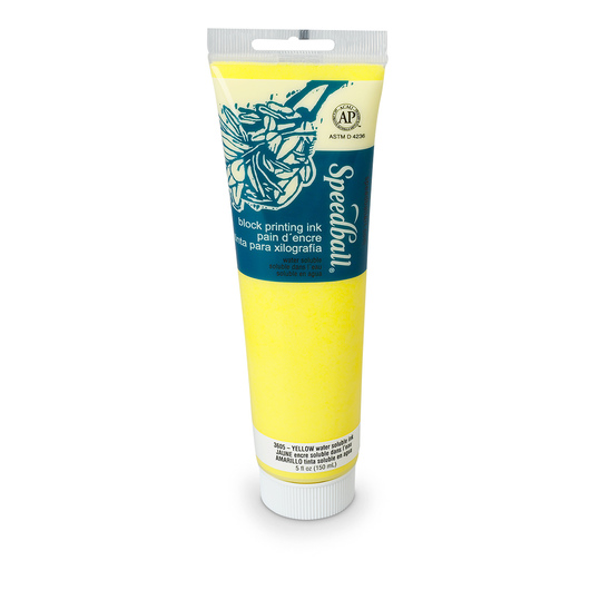 Speedball® Water-Soluble Block Printing Ink - 5-oz. (150 cc) Tube - Yellow