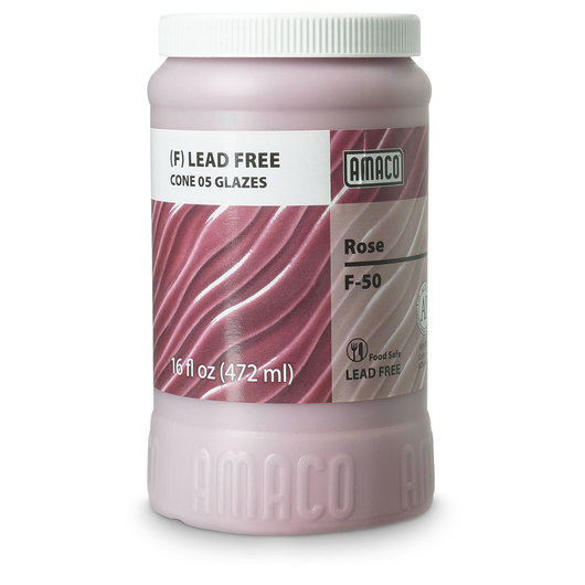 AMACO® Lead-Free F-Series Glaze (Cone 05) - F-50 Rose - Pint