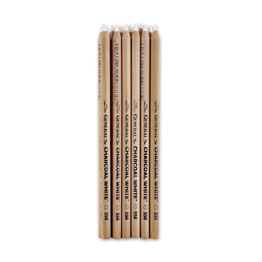 General's® Charcoal White® Pencils - Pkg. of 12
