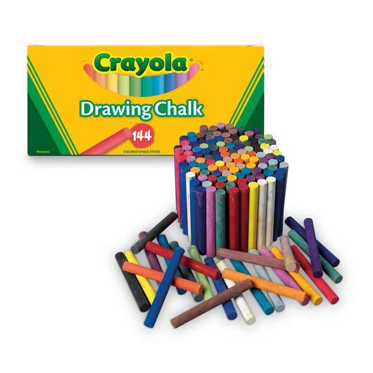 Crayola 174 Colored Drawing Chalk Box Of 144 Chalks