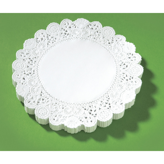 6 in. Round White Paper Lace Doilies - Pkg. of 100