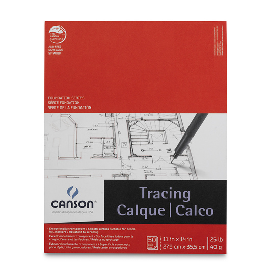 Canson® Tracing Paper Pad - 50 Sheets - 11 in. x 14 in. - 25 lb.