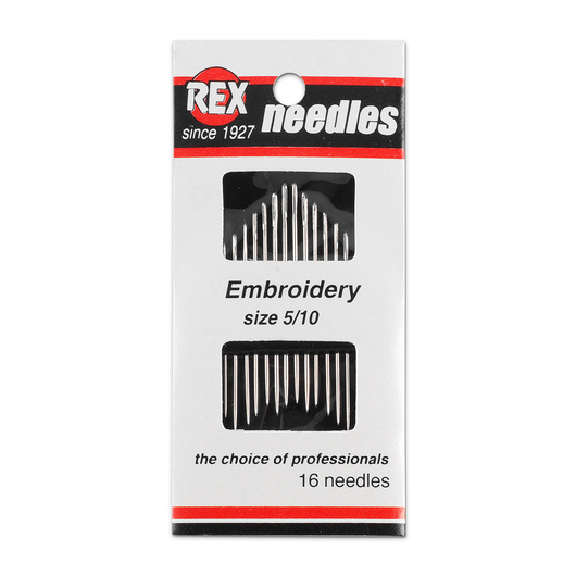 Embroidery (Crewel) Needles - Sizes 5-10