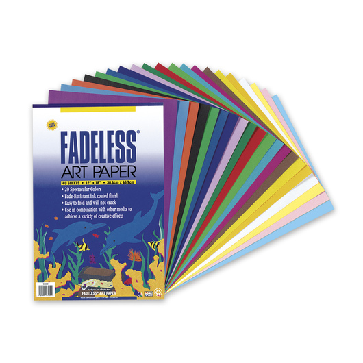Pacon® Fadeless® Art Paper Pad - 40 Sheets - 12 in. x 18 in. - 50 lb.