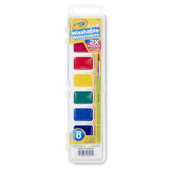 Crayola® Washable Oval Pan Watercolor Set