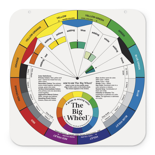 The Big WheelTM Color Wheel With Gray Scale