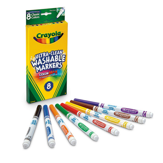 Crayola® Ultra-Clean Washable® Classic Color Markers - Fine-Line Set #7809