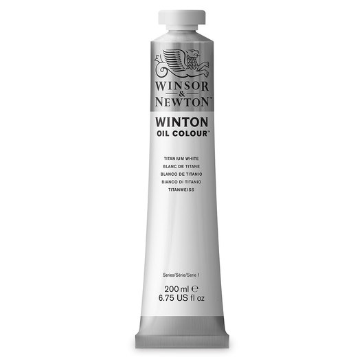 Winsor & Newton™ Winton Oil Color 6.75 oz. (200 ml) Tube - Titanium White